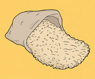 Шарж сумки риса Стоковые Изображения RF