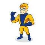 Шарж супергероя Стоковое Изображение
