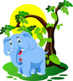 Шарж слона Стоковое Изображение RF