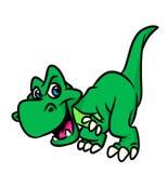 Шарж тиранозавра динозавра иллюстрация вектора