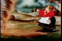 Шарж торнадо склочной женщины сражая бесплатная иллюстрация