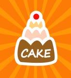 шарж торта вкусный Стоковое фото RF