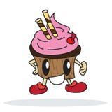 Шарж торта чашки Стоковые Изображения RF