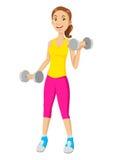 Шарж фитнеса Стоковая Фотография RF