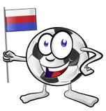 шарж футбольного мяча Стоковое фото RF