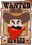 Шарж хотел плакат с стороной бандита Стоковые Изображения