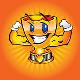 Шарж чашки золота Стоковые Фото