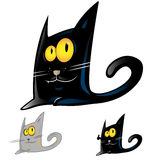 Шарж черного кота Стоковое Фото