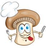 Шарж шеф-повара гриба Стоковые Фото