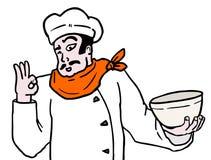 Шарж шеф-повара Стоковая Фотография RF