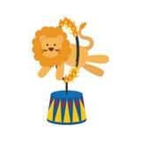 Шарж льва цирка Стоковое фото RF