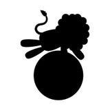 Шарж льва цирка Стоковая Фотография