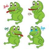 Шарж лягушки милый иллюстрация штока