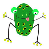 Шарж лягушки Стоковое Изображение RF