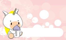 Шарж background1 младенца единорога Стоковые Фотографии RF