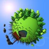Шарж 3D планеты стоковая фотография rf
