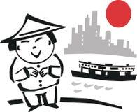 шарж Hong Kong иллюстрация вектора