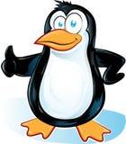 Шарж Pinguin на белой предпосылке Стоковые Фотографии RF