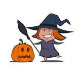 Шарж witch2 Стоковое Изображение RF