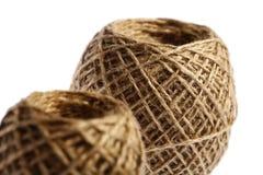 2 шарика веревочки стоковое изображение