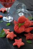 Шарики арбуза в стекле Стоковое Изображение