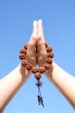 шарики вручают ее молитву Стоковая Фотография RF
