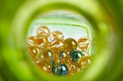 Шарики в бутылке Стоковое Изображение RF