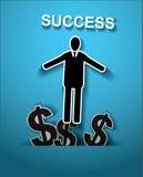 шарики габаритные 3 знак бизнесмена и доллара снаружи от космоса t Стоковые Фото