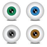 Шарики глаза в различных цветах Стоковая Фотография