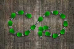 Шарики зеленой травы, символ безграничности, экономика циркуляра ECO Стоковые Изображения RF