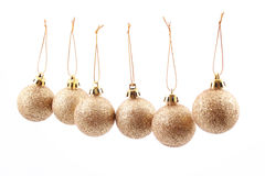 шарики золотистые Стоковые Изображения RF
