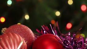 Шарики и ель рождества с сток-видео