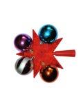 Шарики и звезда рождества Стоковые Фото