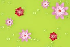 Шарики и предпосылка цветков перевод 3d иллюстрация вектора