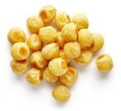 Шарики картошки на белизне, сверху Стоковая Фотография