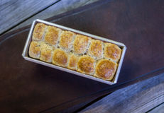 Шарики коричневого хлеба стоковое фото rf
