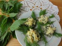 Шарики крапив, рецепты овощей Стоковое фото RF