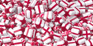 Шарики Кристмас и коробки подарка стоковые фото