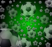шарики летая футбол Стоковое фото RF