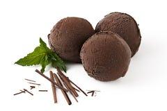 Шарики мороженого шоколада с шоколадом Стоковое Изображение