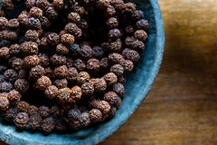 Шарики молитве сделанные из семян rudraksha Стоковые Фото