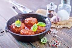 Шарики мяса Стоковое Фото