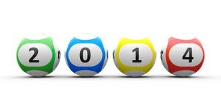 Шарики 2014 лотереи Стоковые Фото