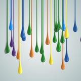 шарики падения краски цвета 3D лоснистые стоковые фотографии rf