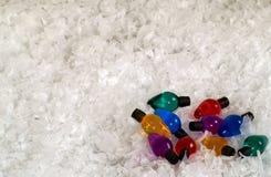шарики покрасили светлый снежок Стоковое Изображение