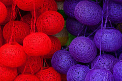 шарики покрасили lanetrn Стоковое фото RF