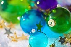 Шарики покрашенные рождеством Стоковая Фотография RF
