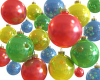 шарики предпосылки красят многократную цепь Стоковое Изображение