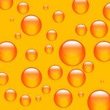 шарики предпосылки померанцовые иллюстрация вектора