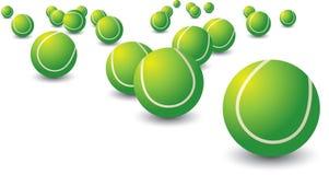 шарики разбросали теннис Стоковые Фотографии RF
